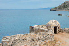 Spinalonga island , crete Royalty Free Stock Photography