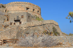 Spinalonga island fortress Royalty Free Stock Photos