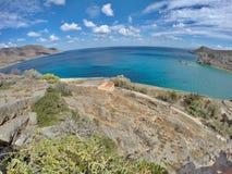 Spinalonga Island in Greece. Nature photography on summer holidays Stock Photo