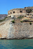 Spinalonga Island with Medieval Fortress, Crete Stock Photo