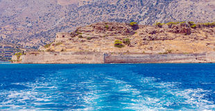 Spinalonga Island with Medieval Fortress, Crete Royalty Free Stock Image
