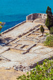 Spinalonga Island with Medieval Fortress, Crete Royalty Free Stock Photo