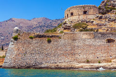 Spinalonga Island with Medieval Fortress, Crete Stock Photos