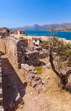 Spinalonga Island with Medieval Fortress, Crete Royalty Free Stock Photography