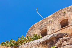 Spinalonga Island with Medieval Fortress, Crete Royalty Free Stock Photos
