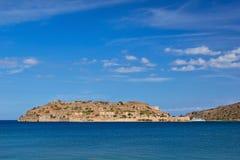 Spinalonga Island. View of Spinalonga island, Crete, Greece Royalty Free Stock Image