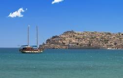 Spinalonga isle på Crete, Grekland Royaltyfria Foton