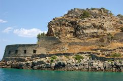 Spinalonga, Kreta stock foto