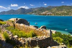 Spinalonga, Kreta stock afbeelding
