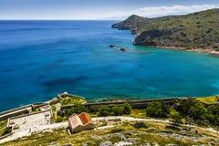 Spinalonga, Kreta royalty-vrije stock foto's