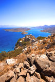 Spinalonga. Mirabello Bay. The island of Spinalonga (official name: Kalidon) is located at the eastern section of Crete, in Lasithi prefecture, near the town of Royalty Free Stock Image