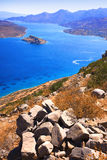Spinalonga. Mirabello Bay. The island of Spinalonga (official name: Kalidon) is located at the eastern section of Crete, in Lasithi prefecture, near the town of Royalty Free Stock Photography