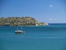 spinalonga łodzi Zdjęcie Royalty Free