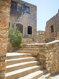 Spinalonga, old little town Stock Image