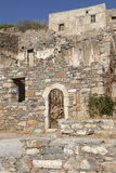 Spinalonga ruins in Crete near Elounda. Greece Royalty Free Stock Photos