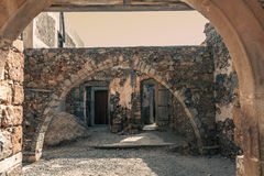 Spinalonga ruins Stock Photography