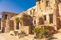 Spinalonga ruins Stock Photo