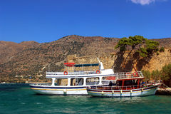Spinalonga ship Royalty Free Stock Photo