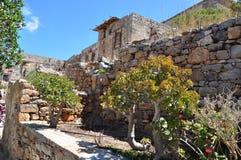Spinalonga spetälskö, crete Grekland Royaltyfria Foton
