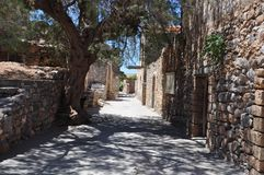 Spinalonga spetälskö, crete Grekland Fotografering för Bildbyråer