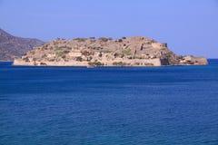 Spinalonga spetälskaö crete, Grekland Arkivbilder