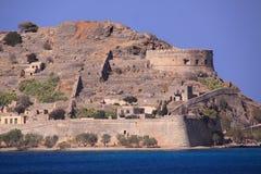 Spinalonga spetälskaö crete, Grekland Royaltyfri Fotografi