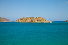 Spinalonga (Spinalogka) Island Royalty Free Stock Images