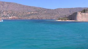 Spinalonga Venetian Fortress Crete stock video footage