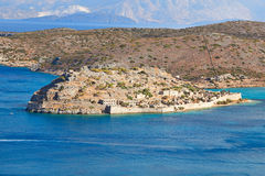 Spinalonga wyspa Obraz Royalty Free