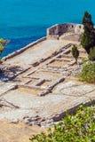 Spinalongaeiland met Middeleeuwse Vesting, Kreta royalty-vrije stock foto