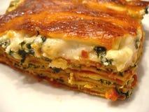 Spinat-Lasagne Stockfoto