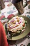 Spinat-Salat Lizenzfreie Stockfotos