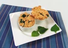 Spinat soufle Lizenzfreies Stockfoto