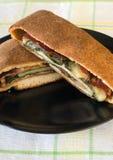 Spinazie en Capicola Stromboli stock afbeelding