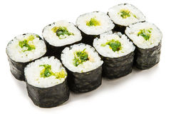 Spinazie Maki Sushi Stock Afbeeldingen