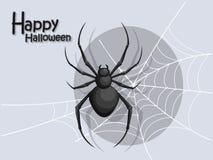 Spinbeeldverhaal vectorhalloween op achtergrond Stock Foto's