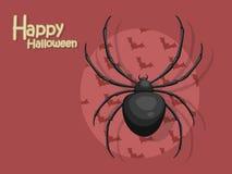 Spinbeeldverhaal vectorhalloween op achtergrond Stock Fotografie
