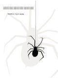 Spindel royaltyfri illustrationer