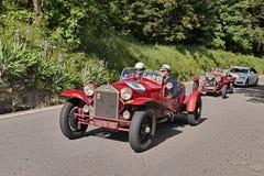 Spindel Casaro (1928) för Lancia Lambda tipo 221 i Mille Miglia 2016 Arkivfoto
