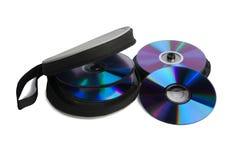 Spindel dei dischi del calcolatore e della casella speciale Fotografie Stock
