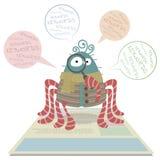 Spindel för rengöringsdukcrawlsimmare stock illustrationer