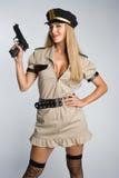 Spindel mit Gewehr Lizenzfreie Stockfotos