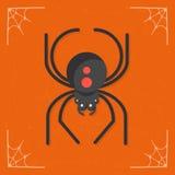 Spindelsymbolsvektor Royaltyfri Bild