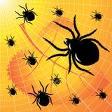 spindlar vektor illustrationer