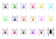 spindlar royaltyfri illustrationer