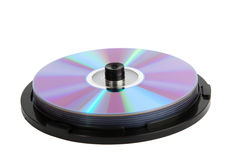Spindle of cd disks Royalty Free Stock Photography