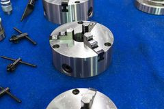 Spindle and Chuck for CNC machine Royalty Free Stock Image
