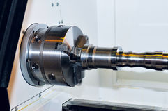 Spindle and a clamping mechanism for turning lathe. Royalty Free Stock Photography