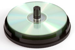 Spindle with compact discs Stock Photography