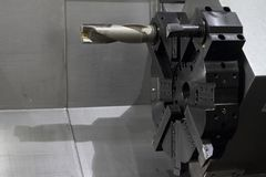 Spindle modern machine tool. Royalty Free Stock Photo